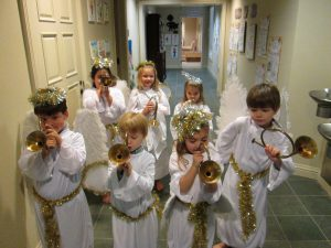 Our PreK-1st graders enjoyed an Angel party when studying angels!